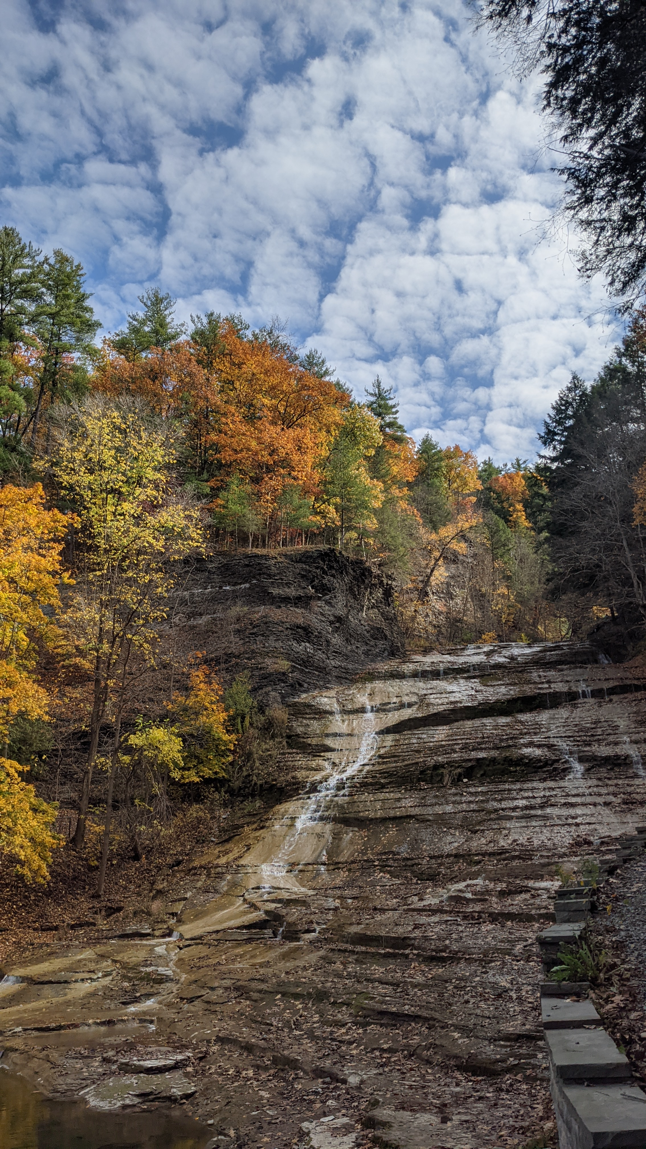Buttermilk Falls State Park in Ithaca, New York